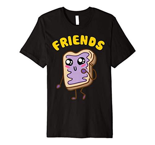 Kawaii Peanut Butter - Jelly - 2 2 BFF Best Friends Matching Premium T-Shirt