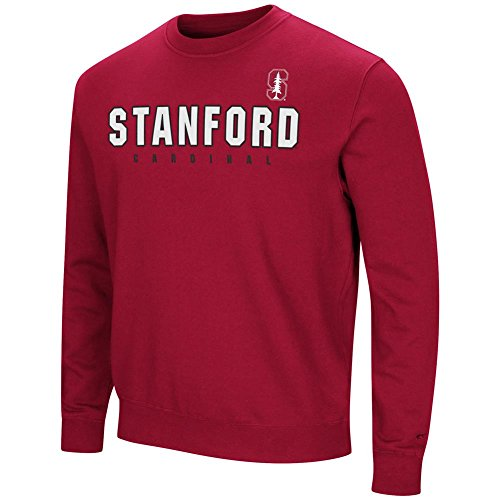Colosseum Stanford University Sweatshirt Playbook Crew Neck Fleece (XX-Large)