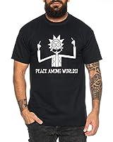 Rick Peace Camiseta de Hombre Morty Dan Sanchez Mr Rick Meeseeks Harmon, Farbe2:Negro, Größe2:X-Large