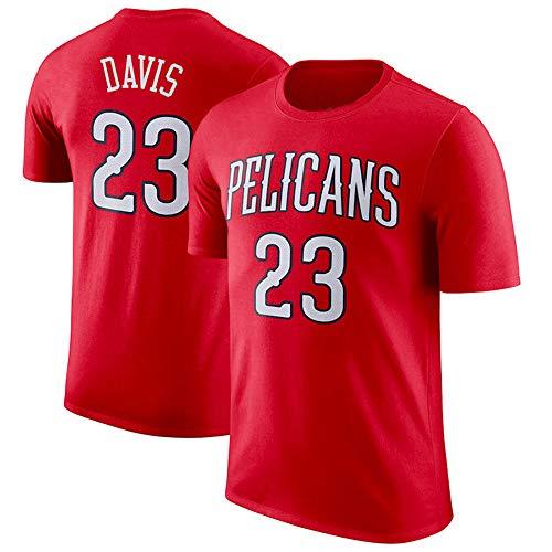 Camiseta NBA New Orleans Pelicans Anthony Davis Top de Baloncesto cómodo para Hombres jóvenes S-3XL, S