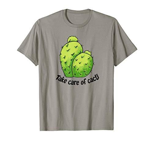 Kaktus Kümmern Kakteen Cactus Stacheligen Dornen Opuntia T-Shirt
