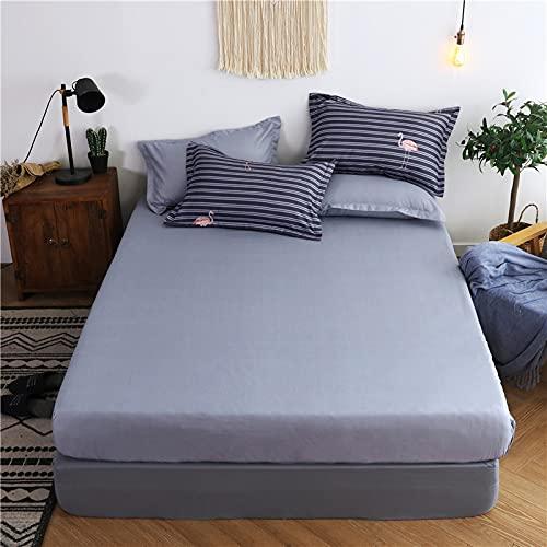 YDyun Protector de colchón de bambú Funda de colchón y Ajustable Cubierta de protección contra el Polvo de una Sola Pieza