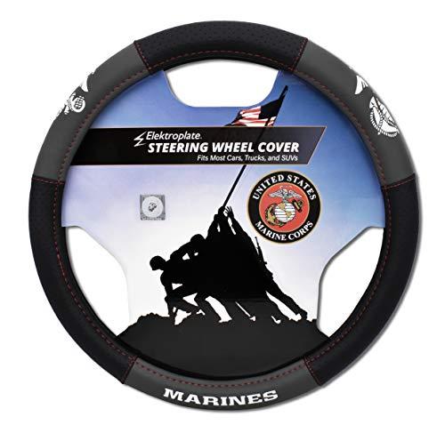 Elektroplate US Marines Premium Steering Wheel Cover -...