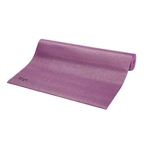 Bodhi Yoga-Matte ASANA aus PVC, schadstofffrei, rutschfest, waschbar, perfekt für Einsteiger, Fitness- und Pilates-Matte, 183 x 60 cm, 4 mm (aubergine)
