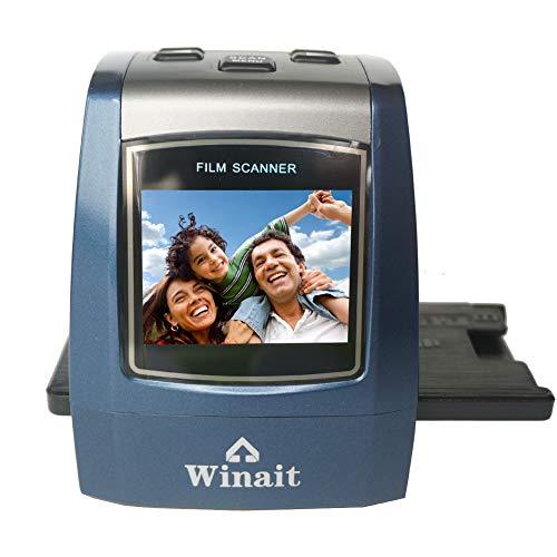 Winait 22 Mega Pixels Scanner de film numérique avec écran couleur 2,4 pouces pour film latéral et négatif 35 mm (couleur bleue)