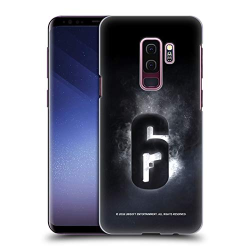 Head Case Designs Officially Licensed Tom Clancy's Rainbow Six Siege Glow Logos Hard Back Case Compatible with Samsung Galaxy S9+ / S9 Plus