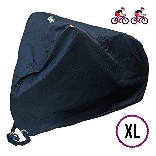 BTR Heavy Duty Waterproof Bike Cover. Bicycle Cover Fits Up 1 or 2 Bikes Plus Waterproof Helmet Cover