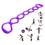 7 Ring Stretch Exercise Band-Miracle Miles Band, Resistance Bands,Yoga Stretching, Arm, Shoulders Foot, Leg Butt Fitness Home Gym Physical Therapy Band (Purple) by XXPP