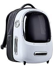 PETKIT Reisrugzak voor honden en katten, ingebouwde ventilator en LED-licht voor ruime ventilatie en laag gewicht. Outdoor rugzak (wit)