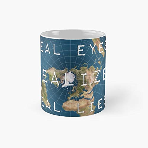Flat Earth Flat Is Fact Classic Mug Birth-day Holi-day Gift Drink Home Kitchen