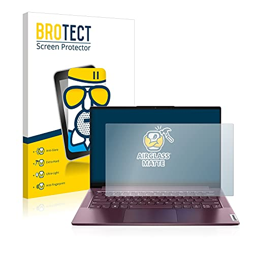 brotect Anti-Glare Glass Screen Protector compatible with Lenovo Yoga Slim 7 14ARE05 Non-Touch - 9H Glass Protector Matte