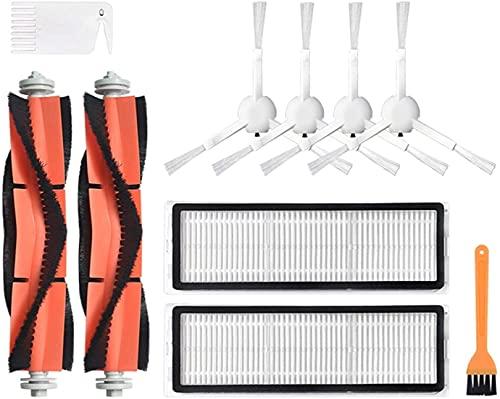 DONGYAO Kits de accesorios para Xiaomi Roborock S50 S51 E25 S5 E20 C10 Roborock Robot Partes de Vacío Filtro Cepillo Lateral Cepillo Rodillo (Color: Dorado) para Aspiradora (Color: 5)