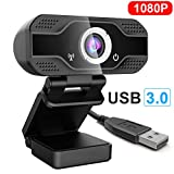 CVasea USB Webcam,PC Webcam Full HD 1080P con Microfono Stereo elecamera PC Microfoni Audio Stereo ridurre Il Rumore per Video Chat e Registrazione (B1)