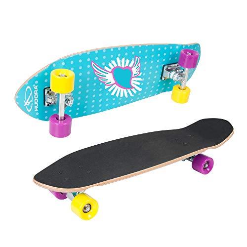HUDORA Skateboard Mädchen Cruiser Skate Wonders ABEC 7, Longboard, 12150