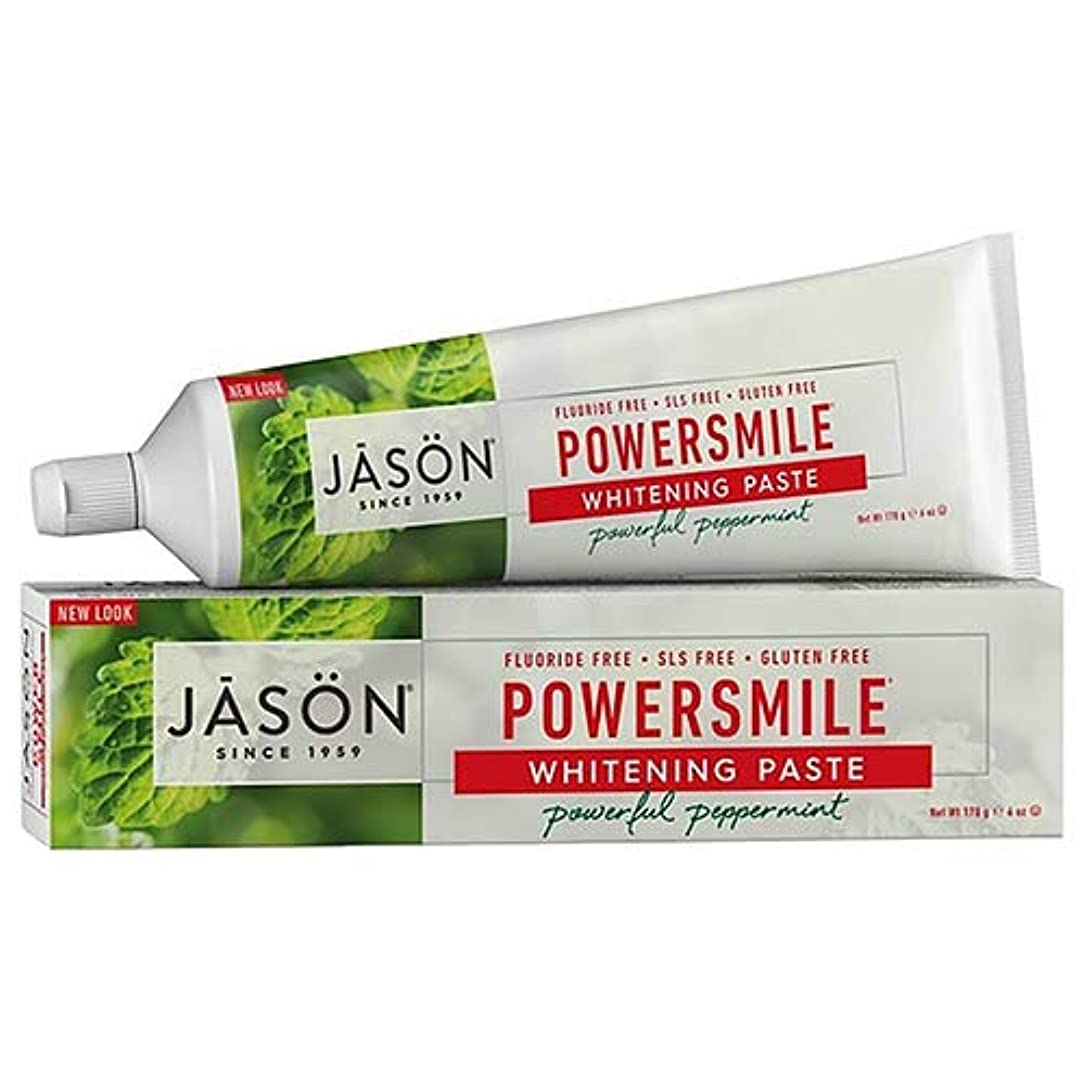 再び新年空いているJason Natural, PowerSmile, Antiplaque & Whitening Paste, Powerful Peppermint, 6 oz (170 g)
