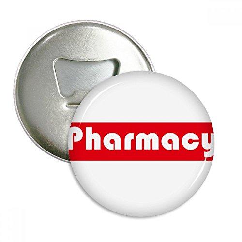 Course And Major Farmacia - Abridor de botellas rojo para nevera, emblema multifunción