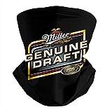 Unisex Miller-Genuine-Draft-MGD-Logo- Neck Face Cover Stretchable Neck Gaiter Multifunctional Headbands Motorcycle Bandana Scarf Headwear