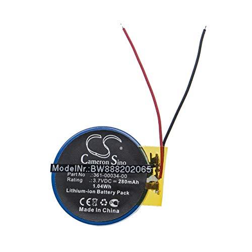vhbw batería Compatible con Garmin Forerunner 405, 405CX, 410, 410CX smartwatch Reloj de Actividad (280mAh, 3,7V, Li-Ion)
