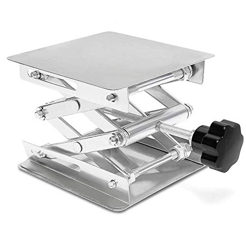 HeyWin Lab Jack Stand 4x4 inch,Made of Stainless Steel,for Raising or...