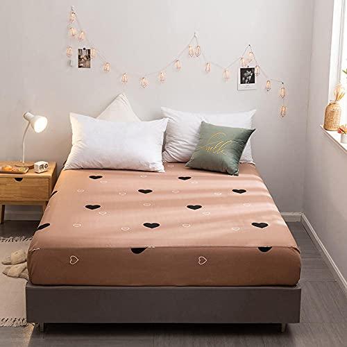 CYYyang Protector de colchón de bambú Funda de colchón y Ajustable Sábana Individual de algodón Estampada -11_150 * 200cm
