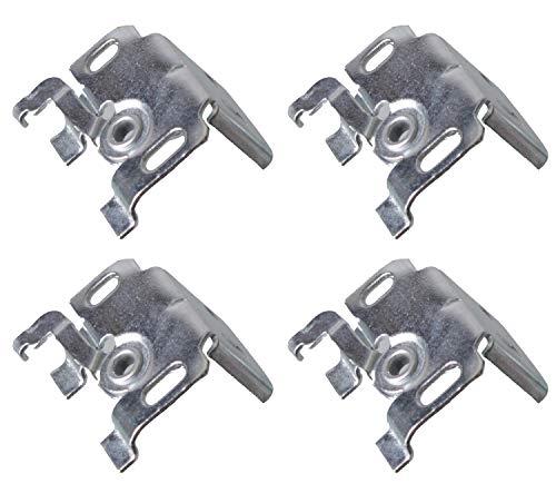 EFIXS Universalträger (Jalousieträger) (4 Stück) für Wand- oder Deckenmontage für Aluminium-Jalousien mit 25mm Oberschiene