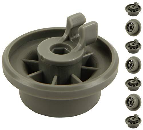 Ruedas para cesta inferior de lavavajillas (1 juego = 8 unidades), aptas para lavavajillas Siemens, Bosch, Bauknecht, Neff, Beko, etc.