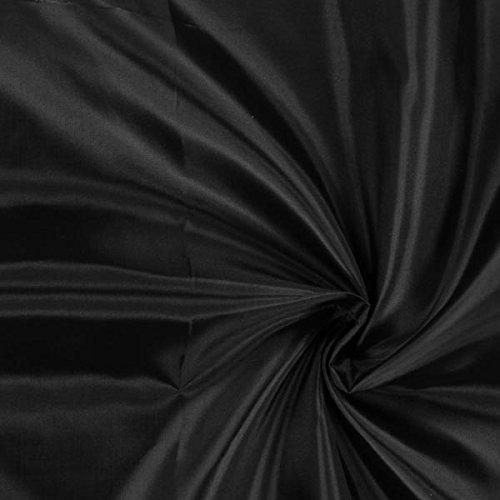 Fabulous Fabrics Futterstoff schwarz, 150cm breit – zum Füttern von Jacken, Kleidern oder Mänteln - Meterware erhältlich ab 0,5 m