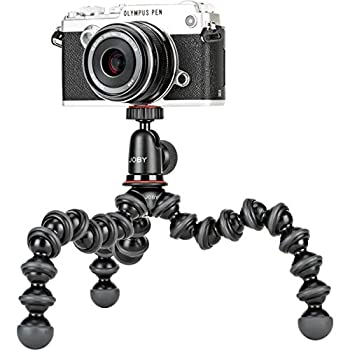 Joby JB01503 GorillaPod 1K Kit Compact Tripod 1K Stand and Ballhead 1K for Compact Mirrorless Cameras or Devices up to 1k  2.2lbs  Black/Charcoal.