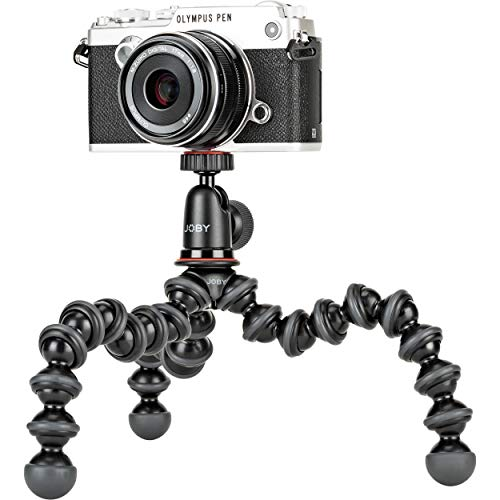 JOBY GorillaPod 1K Kit. Compact Tripod 1K Stand and Ballhead 1K for Compact Mirrorless Cameras or Devices up to 1k (2.2lbs). Black/Charcoal.