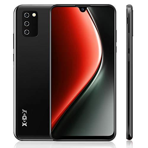 4G Handy Ohne Vertrag,XGODY Note10 7.2 Zoll HD Wassertropfen Bildschirm Smartphone,Android 9.0 Dual SIM Frei Mobile Phone,Facial Entriegelt,3600mAh Batterie(Schwarz)
