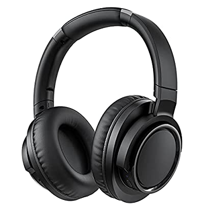 H18 Active Noise Cancelling Headphones, 50 Hours Battery Life, 17m/56ft Wireless Range, Wireless Over Ear Headphones with Hi-Fi Audio Bass, Foldable Headset with CVC6.0 Mic for Travel Work Phone PC by Lovchter