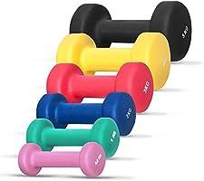 Gorilla Sports 1 KG (2x0,5) à 10kg (2x5,0) Haltères Fitness en Vinyle