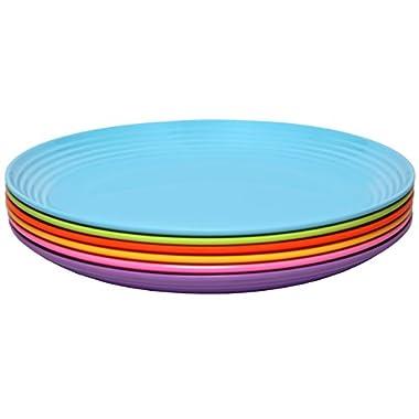 Melange 6-Piece  Melamine Salad Plate Set (Solids Collection ) | Shatter-Proof and Chip-Resistant Melamine Salad Plates | Color: Multicolor
