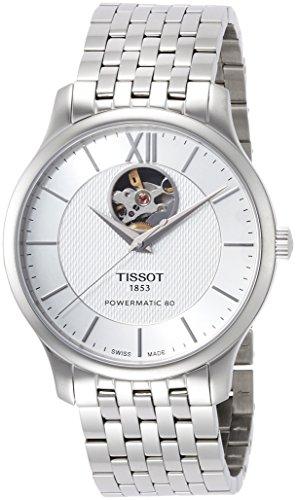 [ティソ]腕時計トラディションオートマティックオープンハートパワーマティック80シルバー文字盤ブレスレットT0639071103800メンズ正規輸入品グレー