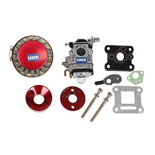 HMParts Pocket Bike Mini Cross Tuning Vergaser - Set 47 CCM / 49 CCM 15 mm rot
