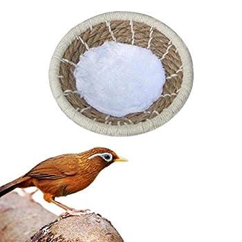 Balacoo Nid D'oiseau en Rotin Maison d'oiseaux pour Perruche Lapin Lapin Colombe Hamster Gerbille Chinchillas Petites Maisons d'animaux L