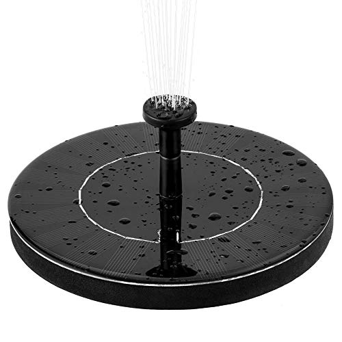 INMAS Solar Fountain Pump Bird Bath, Free Standing Water Fountain Pump Kit,Water Fountain Pump with 4 Different Spray Pattern Heads for Pond, Pool, Garden, Fish (Solar Fountain)