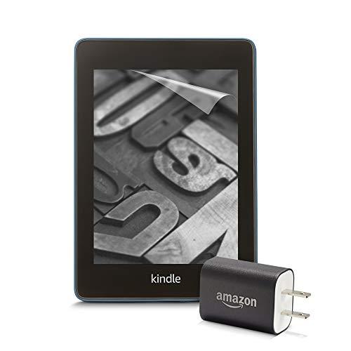 【セット買い】 Kindle Paperwhite wifi 8GB 広告つき 電子書籍リーダー (トワイライトブルー) + Amazon純正充電器 + 保護フィルム