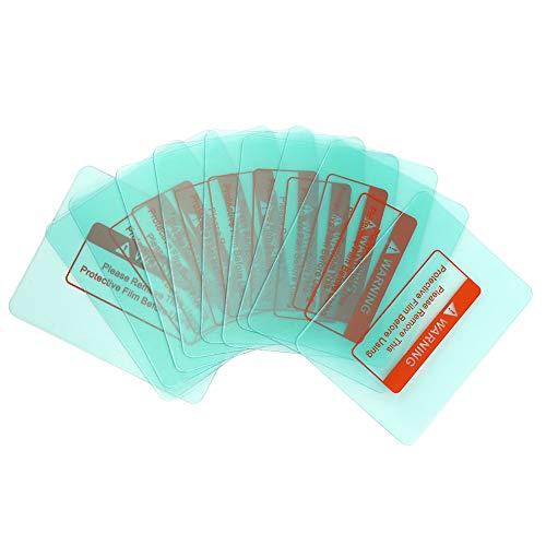 Cubierta protectora para lentes de soldadura, 10 unidades, exquisita artesanía, casco de soldadura transparente, para soldar, lente de soldadura transparente