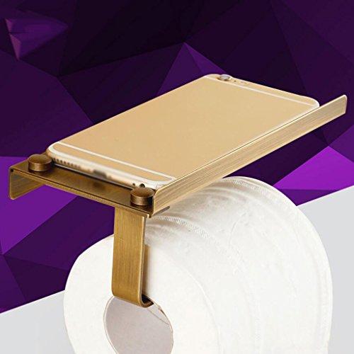 Support de téléphone WC tout Bronze Retro Téléphone Porte-rouleau Support de rouleau Rollsnownow