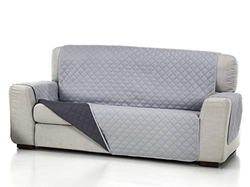 Lanovenanube - Funda sofá Acolchado - Práctica - 3 plazas - Color Gris Claro C21