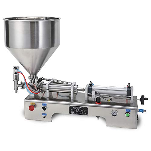 Sumeve Pneumatic Filling Machine,Paste Filling Machine,Horizontal Liquid and Paste Bottle Filler For Toothpaste, peanut butter, chilli sauce, mustard (300ml)
