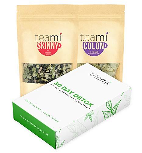 Teami® 30-Day Detox Tea Pack: All-Natural Teatox Kit with Teami Skinny & Teami Colon Cleanse Loose Leaf Herbal Teas