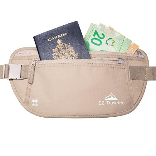 EZ-Traveler RFID Money Belt - Lightweight, RFID Blocking, Luxury Waist Pack for Travel, Running, Cycling, Anti-Theft, Passport, Wallet, Money and Phone Security
