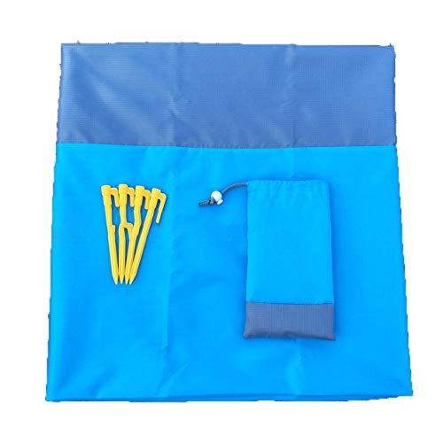 LIANQI Colchoneta para Acampar Manta de Playa a Prueba de Agua Al Aire Libre Portátil para Picnic Colchoneta para el Suelo Colchón para Acampar al Aire Libre Manta para Picnic - Azul + Gris