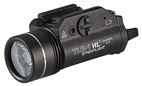 Streamlight 69260 TLR-1 HL 1000-Lumen Tactical Weapon Mount Light With Rail Locating Keys & Lithium Batteries, Black – Box Packaged