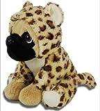 LB Supersüß Sitzender Mops mit Anzug Leopard, ca. 23 cm, Kuscheltier, Plüsch