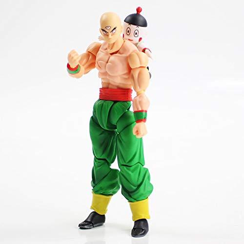 Qwead Figura Móvil De Dibujos Animados Dragon Ball Z SHF Tenshinhan Figura De PVC Colección De Articulaciones Se Pueden Hacer Modelo De Juguete 15,5 Cm
