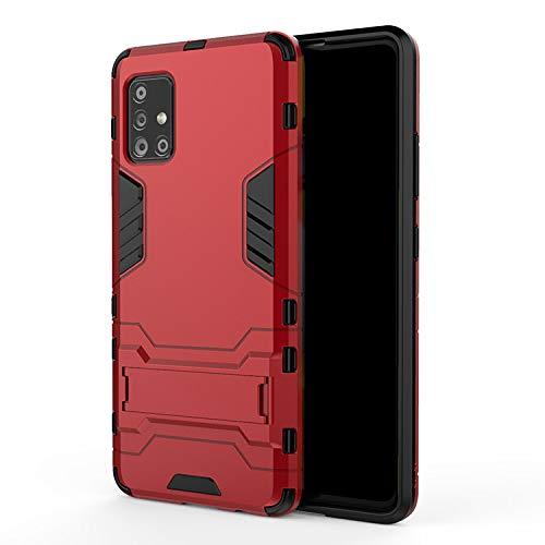 Galaxy A51 5G SC-54A/SCG07 ケース/カバー スタンド機能 2重構造 耐衝撃 TPU シンプル タフで頑丈 サムスン ギャラクシーA51 5G ハードケース/カバー おしゃれ スマフォ スマホ スマートフォンケース/カバー(ワイン)