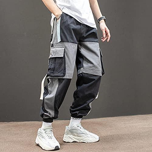 Harajuku Jogging Pantalones Hombres Streetwear Japonés Pantalones de Carga Militar Hip Hop Techwear Pantalones Pantalones para Correr para Ropa Coreana Masculina-Grado_Metro